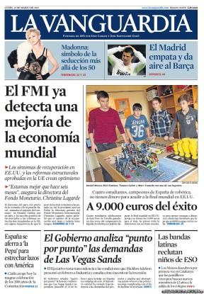 Tapa del diario El Mundo - España